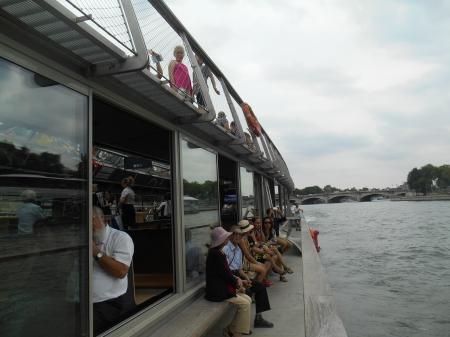 Balade sur un bateau Parisien le 21 juillet 2016